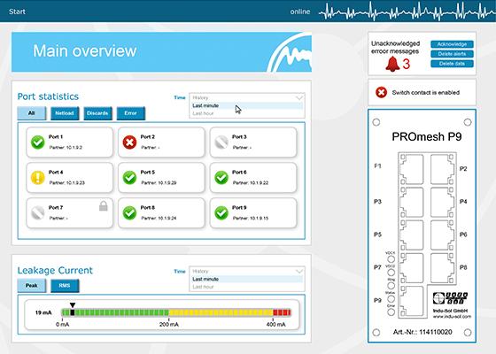 PROmesh P9 web interface