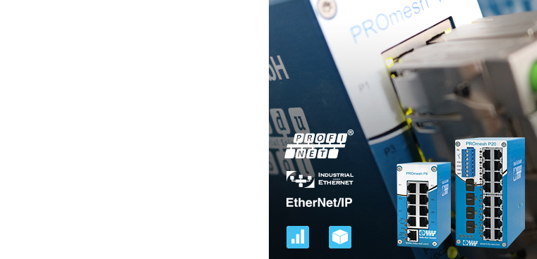 PROmesh Switches: Innovative Industrial Switches with integrated PROFINET/ethernet diagnosis