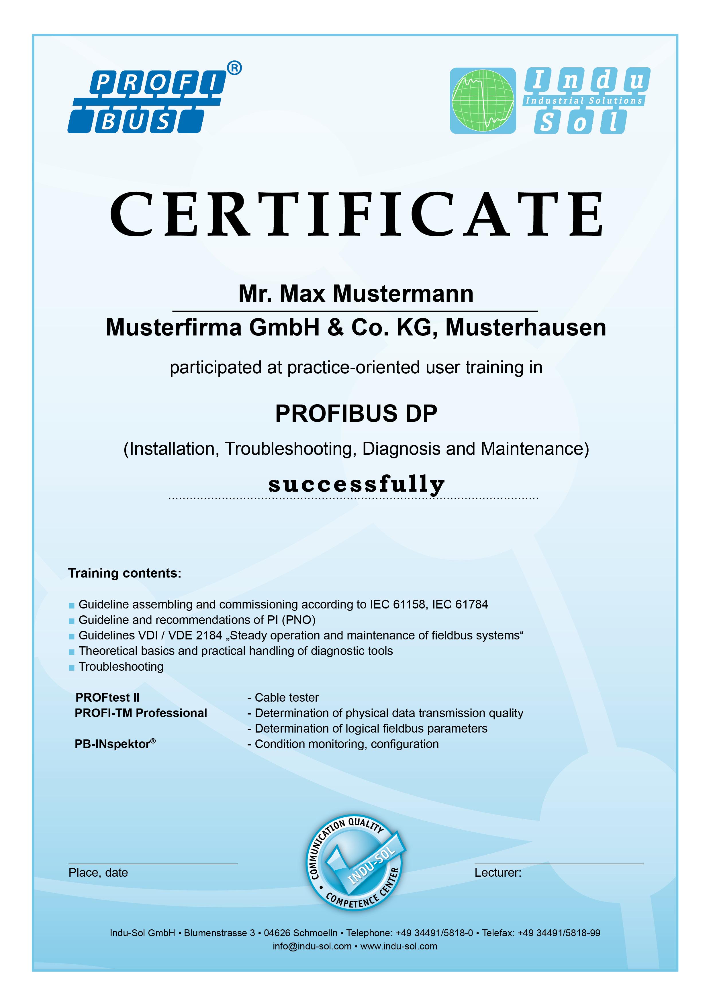 Profibus Training Basics Practice Indu Sol Basic Electrical Wiring Theory Certificate