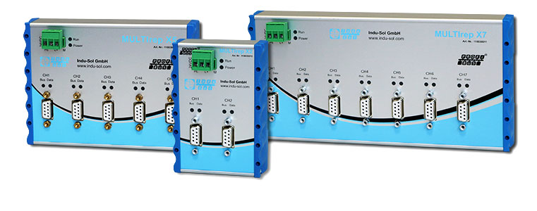 PROFIBUS repeater with switch-off and diagnostic function